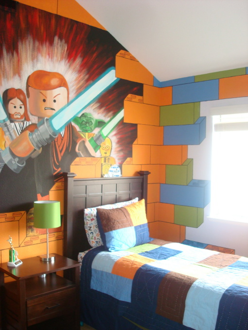The Force Awakens With This Brilliant Wall Art  Source   designershowhouse net  LEGO and Star Wars. 40  Best LEGO Room Designs for 2017