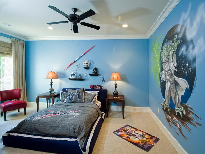bright and colorful star wars theme - Boy Bedroom Theme