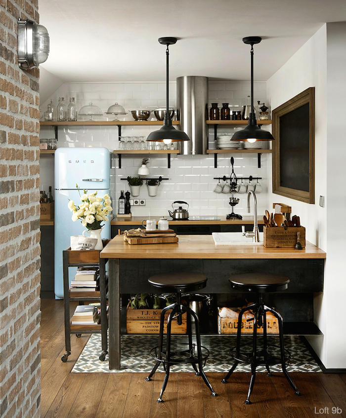 small kitchen design wallpaper