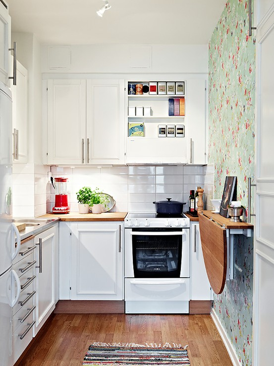 Kitchen Design Ideas For Small Spaces awesome kitchen ideas small spaces 51 small kitchen design ideas that rocks shelterness Soft Feminine And Sunny