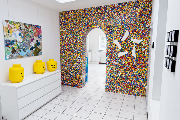 An Amazing LEGO Accent Wall