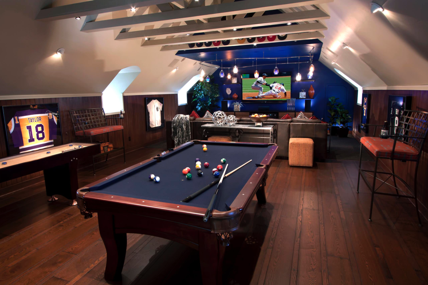 Best man cave installation ideas 23 - Sports Room Sophistication Man Cave