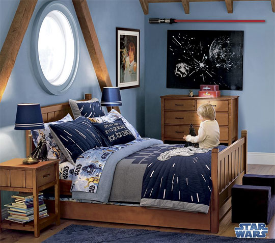 Bright in Blue Star Wars Kids Room