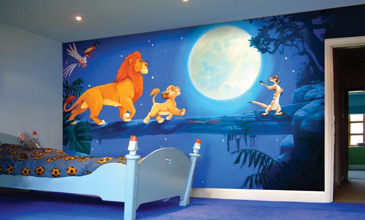 42 best disney room ideas and designs for 2017 for Disney wall stencils for painting kids rooms