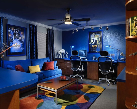 Futuristic Colors for a Fun Theme - 45 Best Star Wars Room Ideas For 2017
