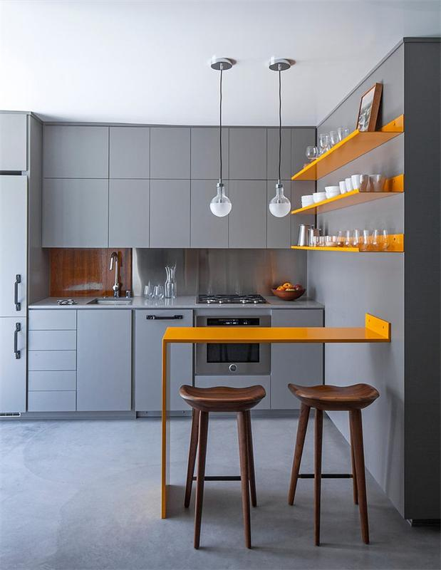 A Steely Yet Inviting Kitchen Space