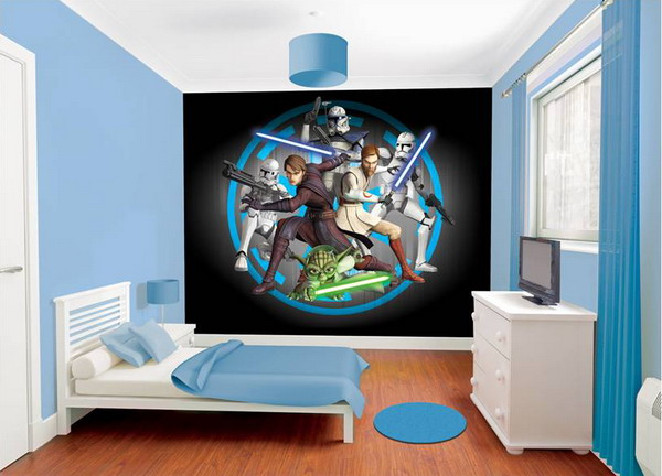 45 best star wars room ideas for 2018 for Star wars tapete kinderzimmer