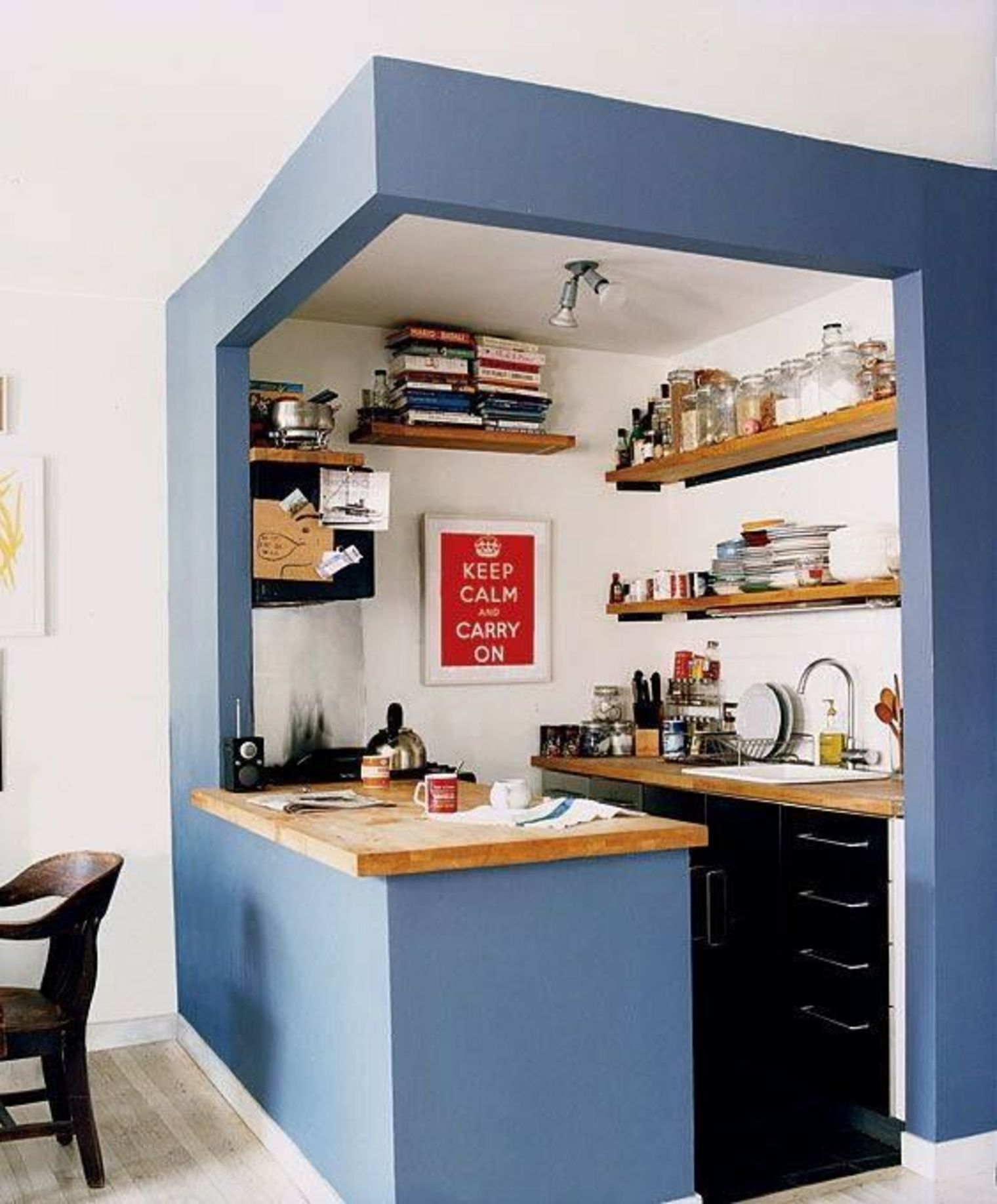 A Kitchen Nook Inspired By Cubism