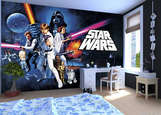 45 best star wars room ideas for 2017 for Boys mural wallpaper
