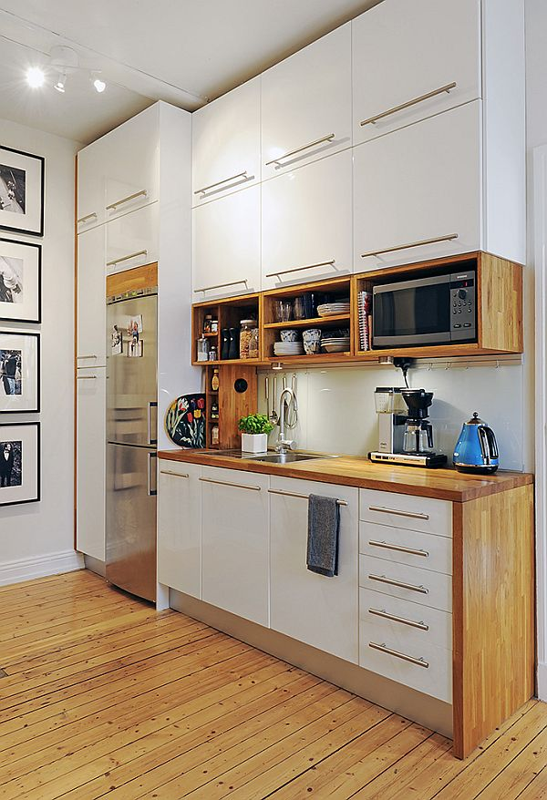 White Cabinets Pair Beautifully With Natural Wood