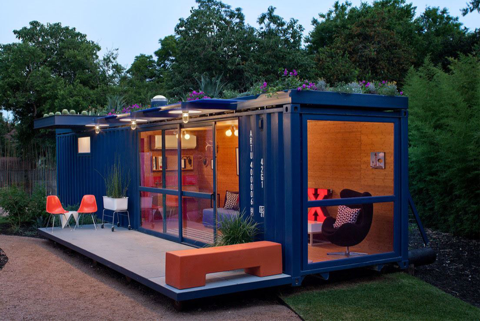 Colorful Tiny Container Home