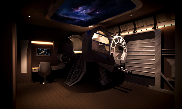A Truly Immersive Experience. Source: Tiefighters.com. Some Star Wars Room  Decor Ideas ...