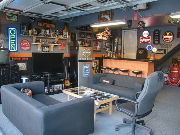 Cool Colored Garage Man Cave Homebnc