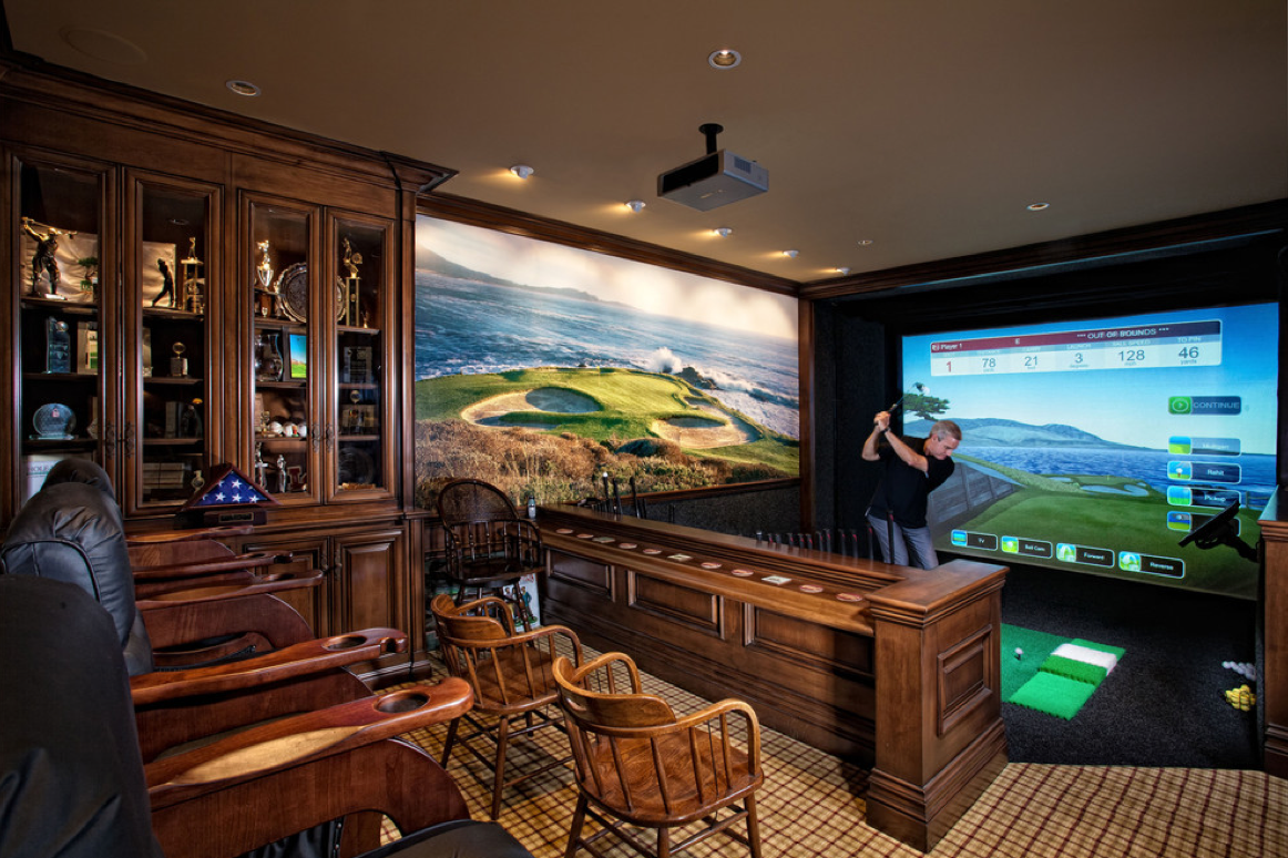 Golf Simulator Room Ideas