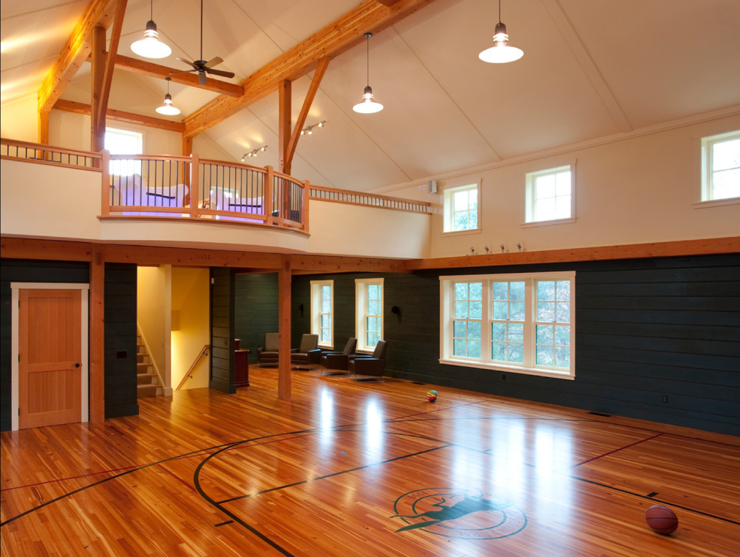 In-home Basketball Court Man Cave