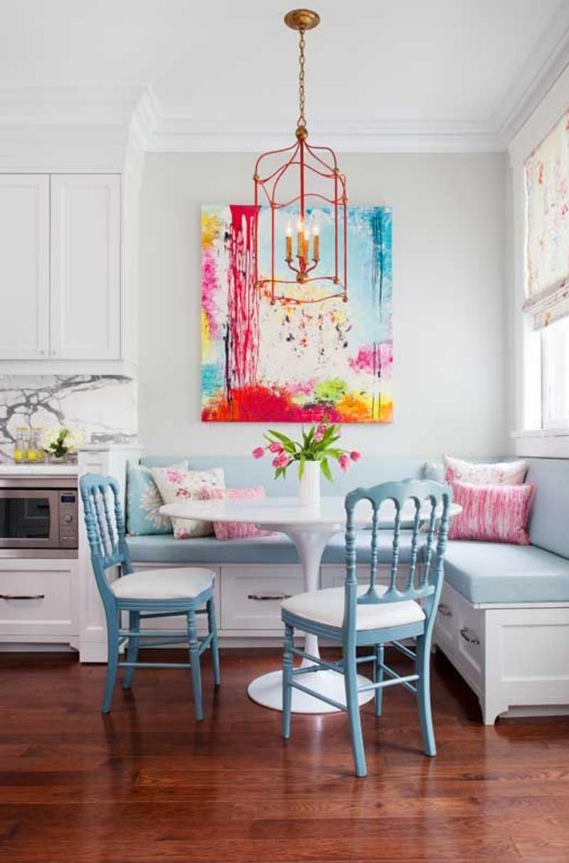 1 a splash of color - Small Kitchen Nook Ideas