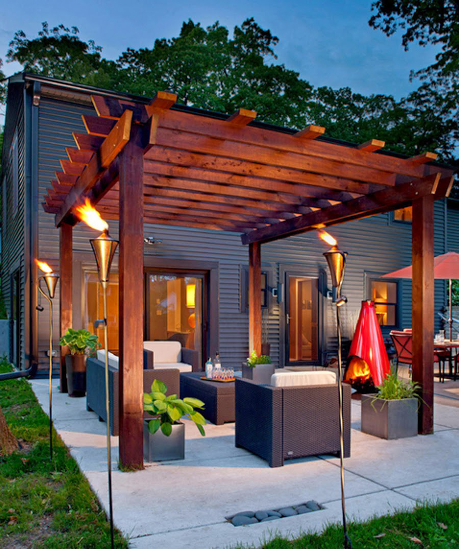 1 turn up the heat with a glowing pergola - Patio Designs