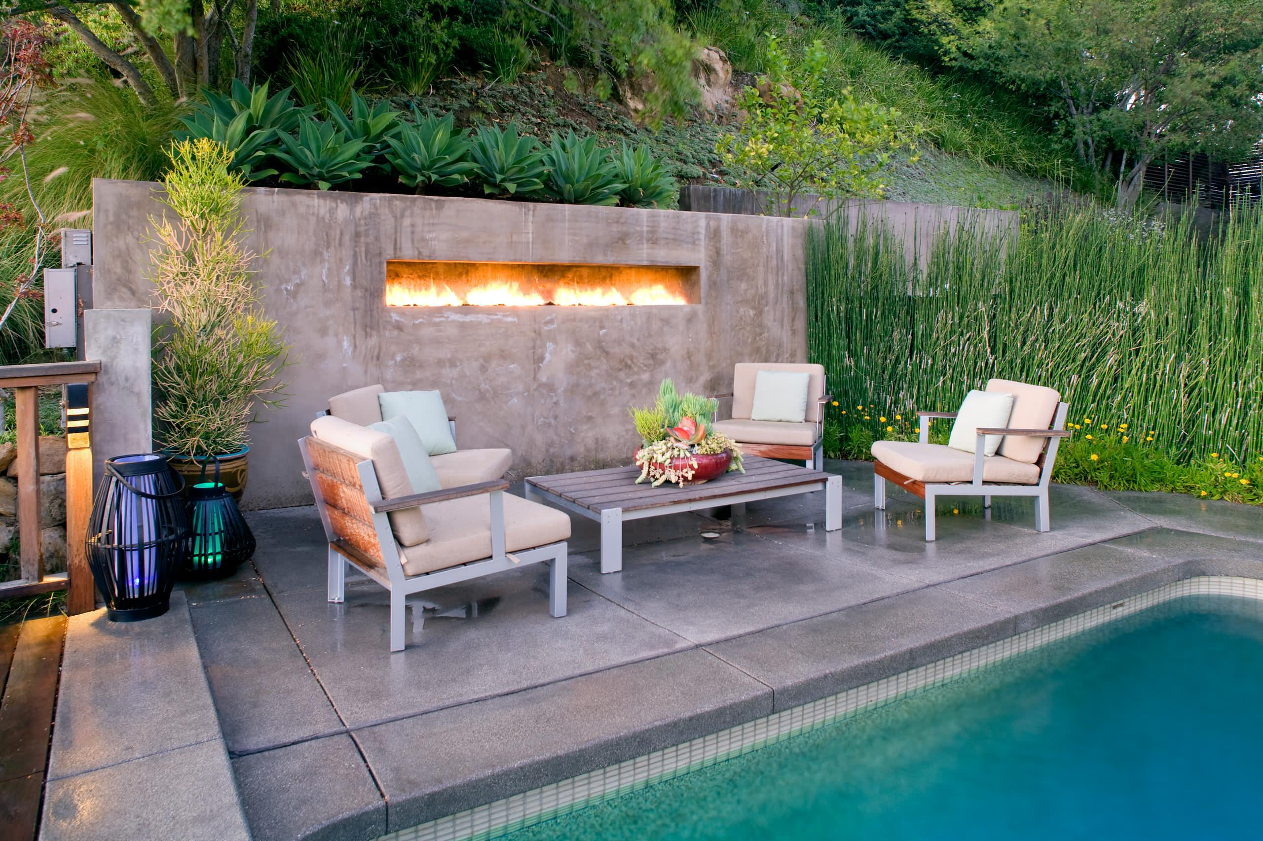 2  A Refreshing Mix Of Fire And Water. 50 Best Patio Ideas For Design Inspiration for 2017