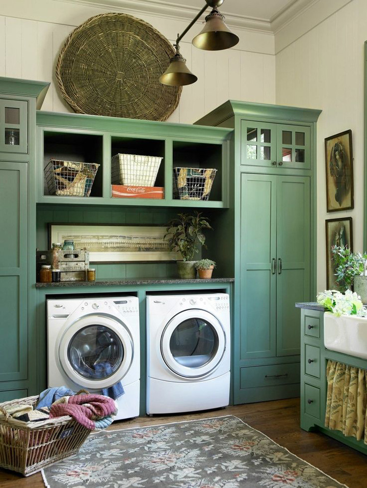 3 french country meets modern appliance - Laundry Room Design Ideas