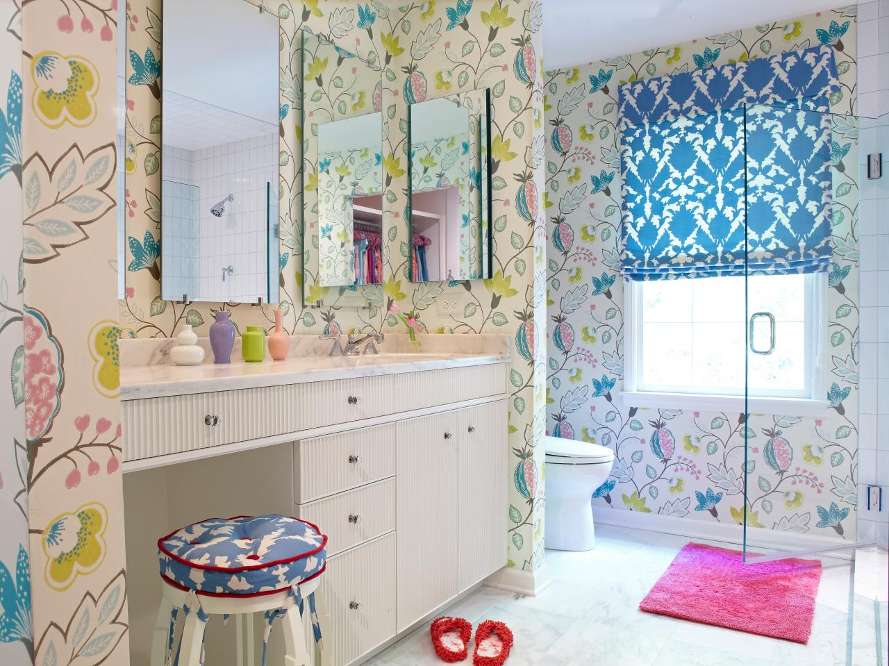 Flower Power Bathroom Design