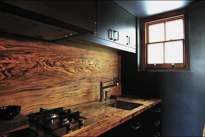 rustic wooden backsplash - Cool Kitchen Backsplash Ideas