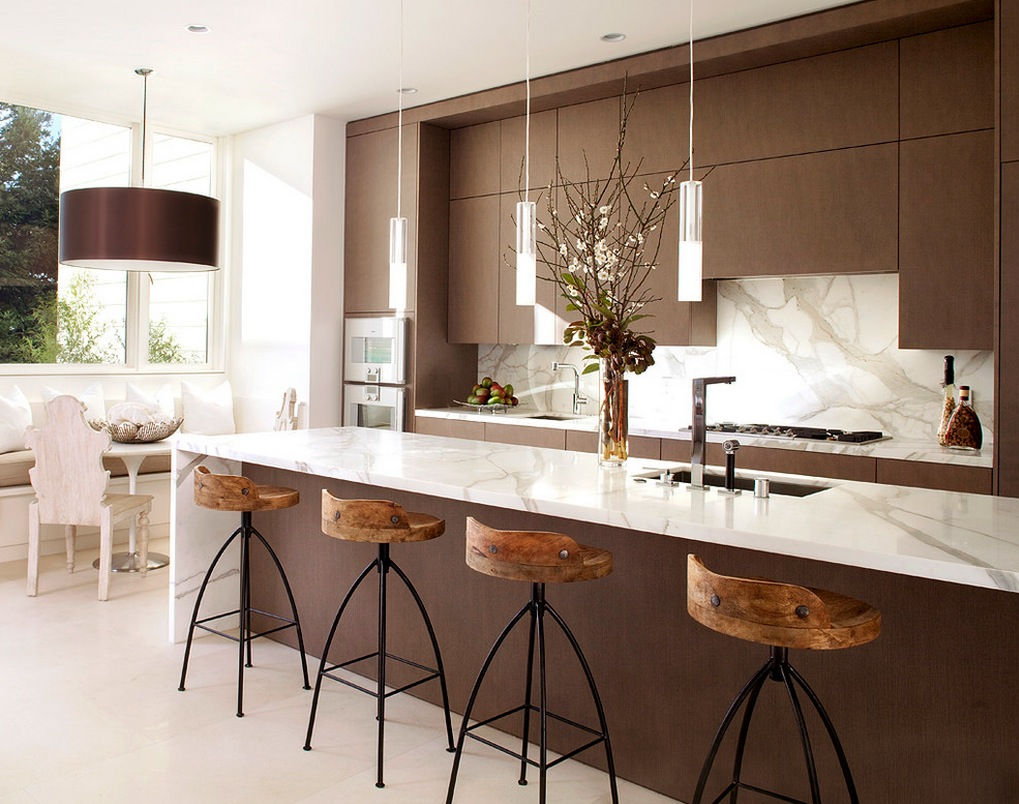 modern open plan kitchen dining room