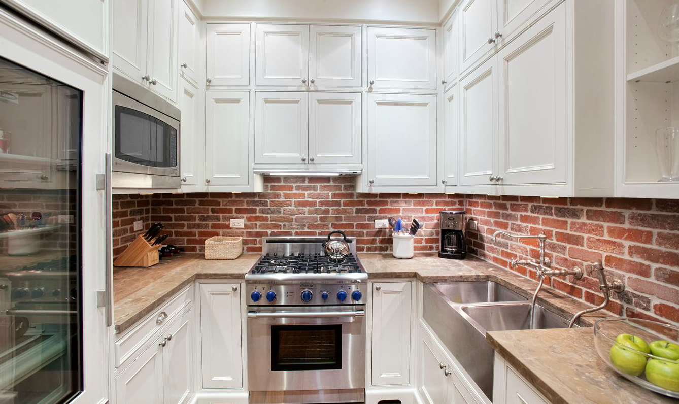 Amazing Wood Kitchen Backsplash Ideas Part - 6: Brick Backsplash