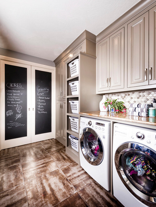 8 neutral with a touch of fun - Laundry Design Ideas