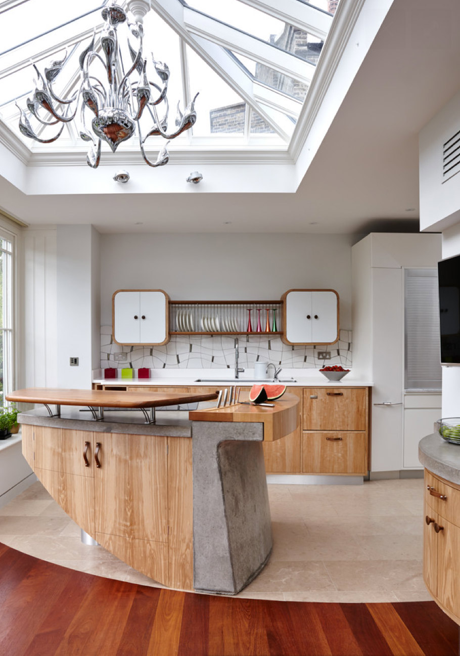 Marvelous The Sculpted Beauty. Source: Houzz. Modern Kitchen Decoration Means  Sometimes Using Unusual Materials. Many Designers ...
