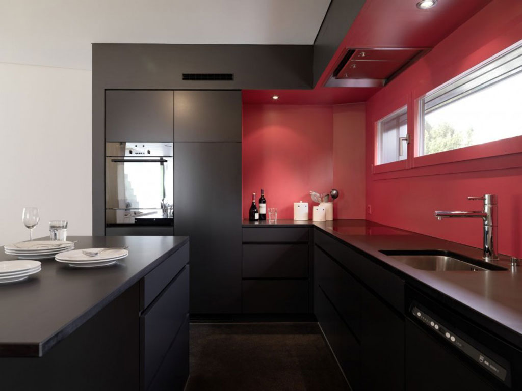 44 best ideas of modern kitchen cabinets for 2017 - Black red and white kitchen designs ...