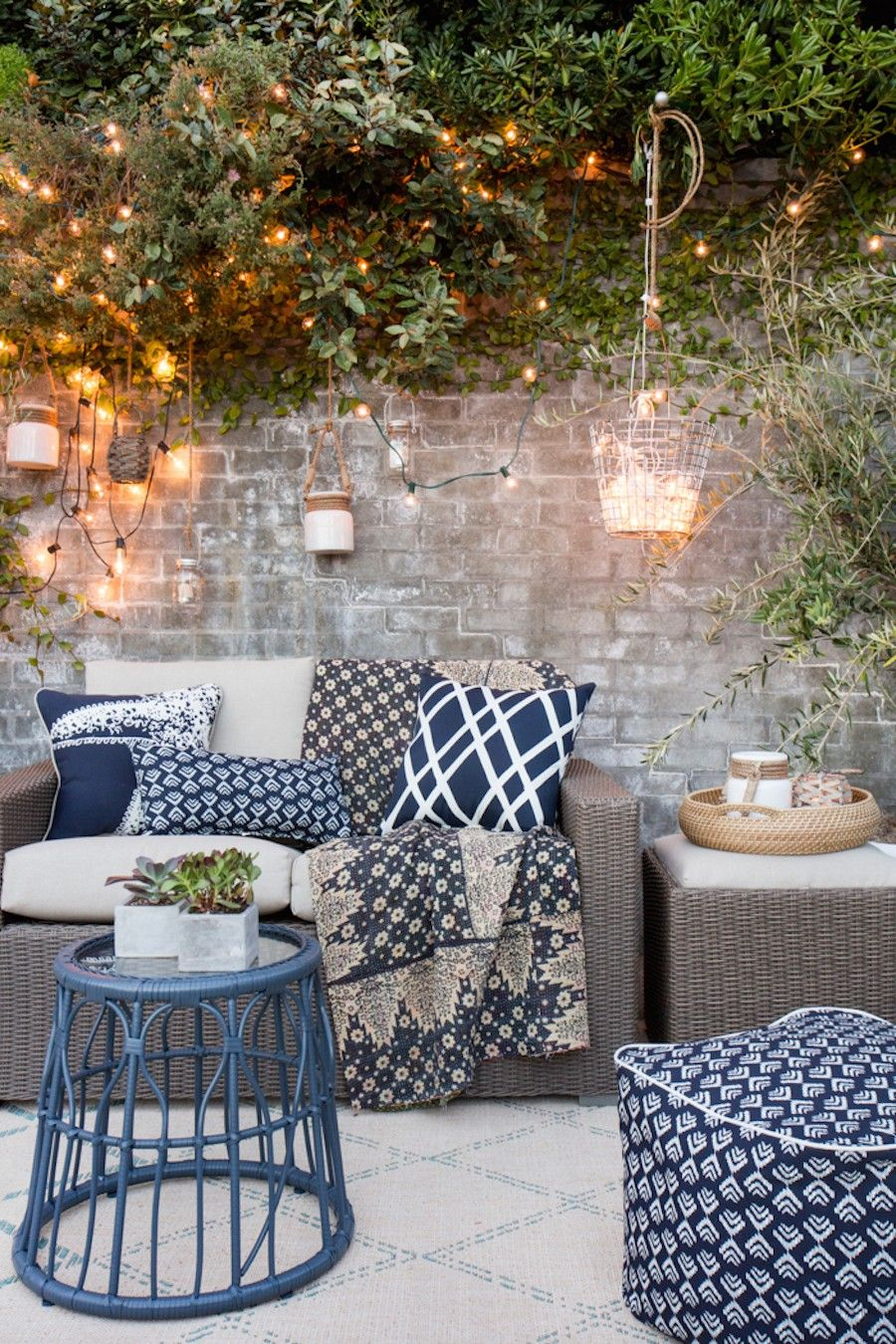 Garden Patio Ideas garden design with outdoor furniture garden furniture uamp lighting ideas with blueberry plant from houseandgarden Laid Back Garden Patio