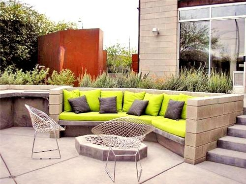 10 concrete built ins with style - Patio Designs Ideas