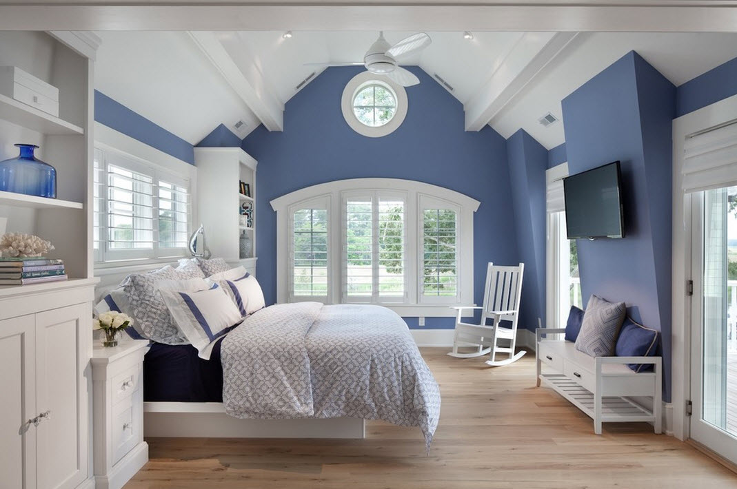Bedroom Color Ideas For White Furniture Part - 34: Blue And White Just Feels Right