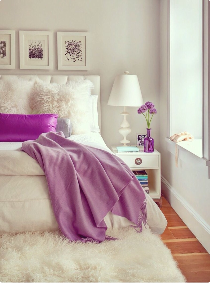 12 lovely in lavender - White Bedroom Decorating Ideas