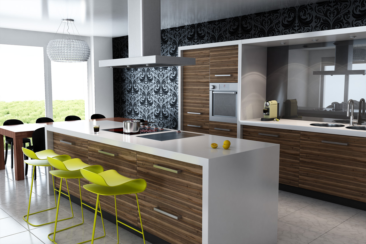 Nice Contemporary Elegance With Modern Kitchen Cabinets