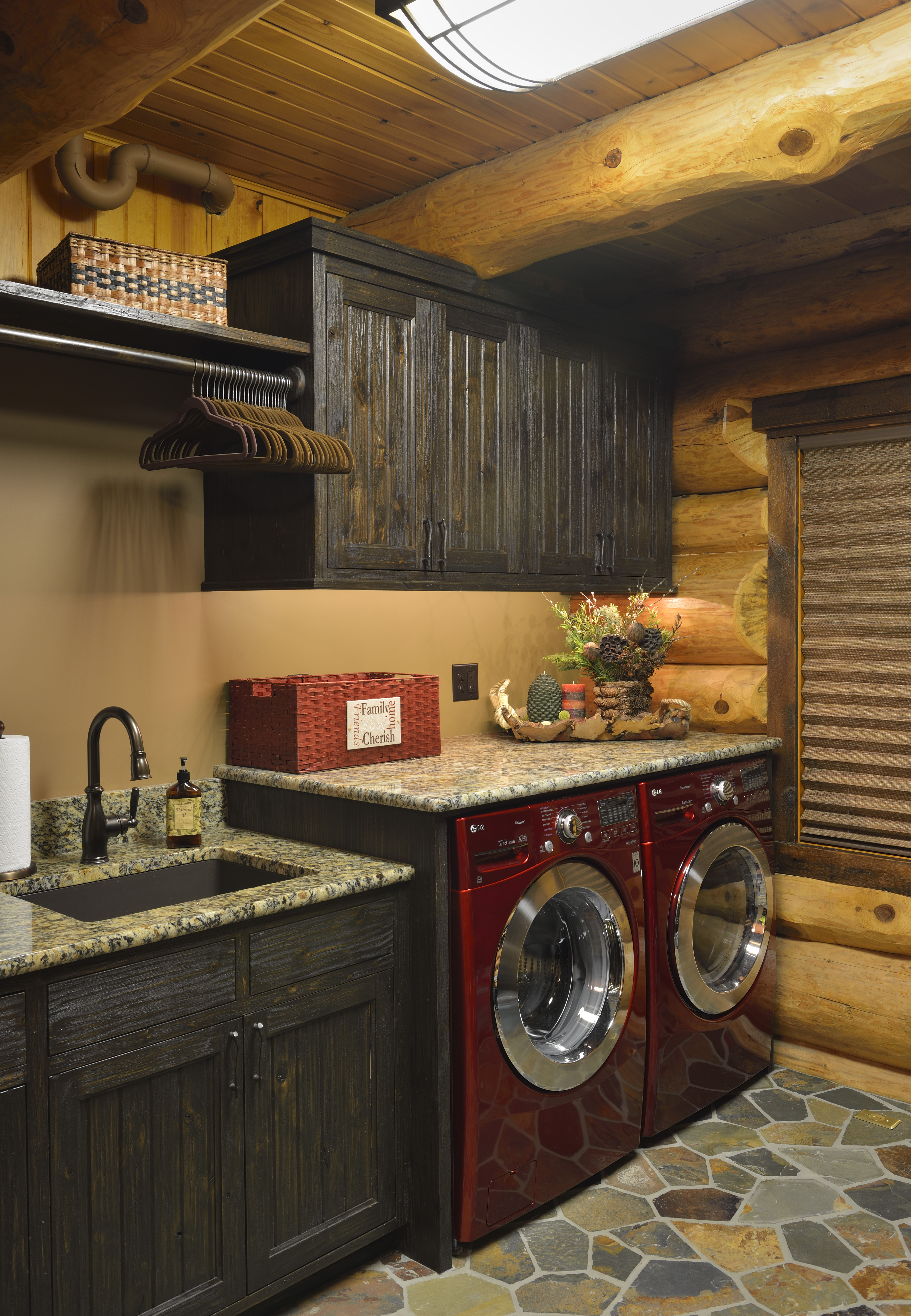 log classic homebnc room cabin best ideas design laundry