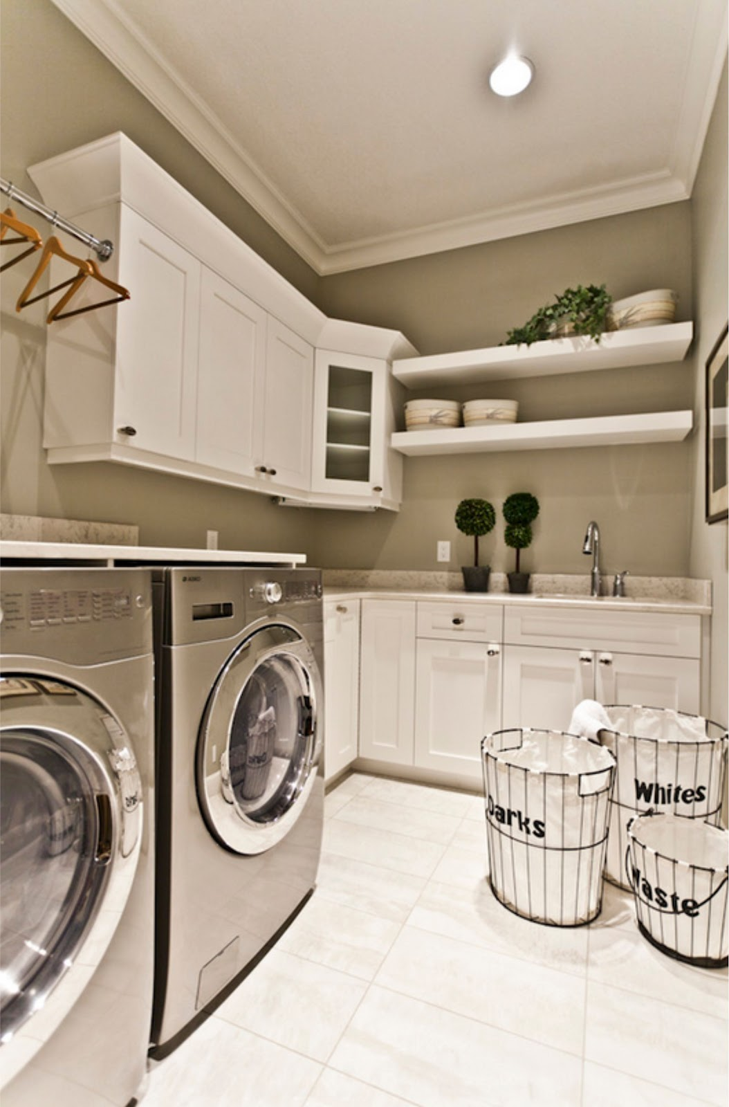 50 Best Laundry Room Design Ideas for 2016 on Laundry Decorating Ideas  id=20826