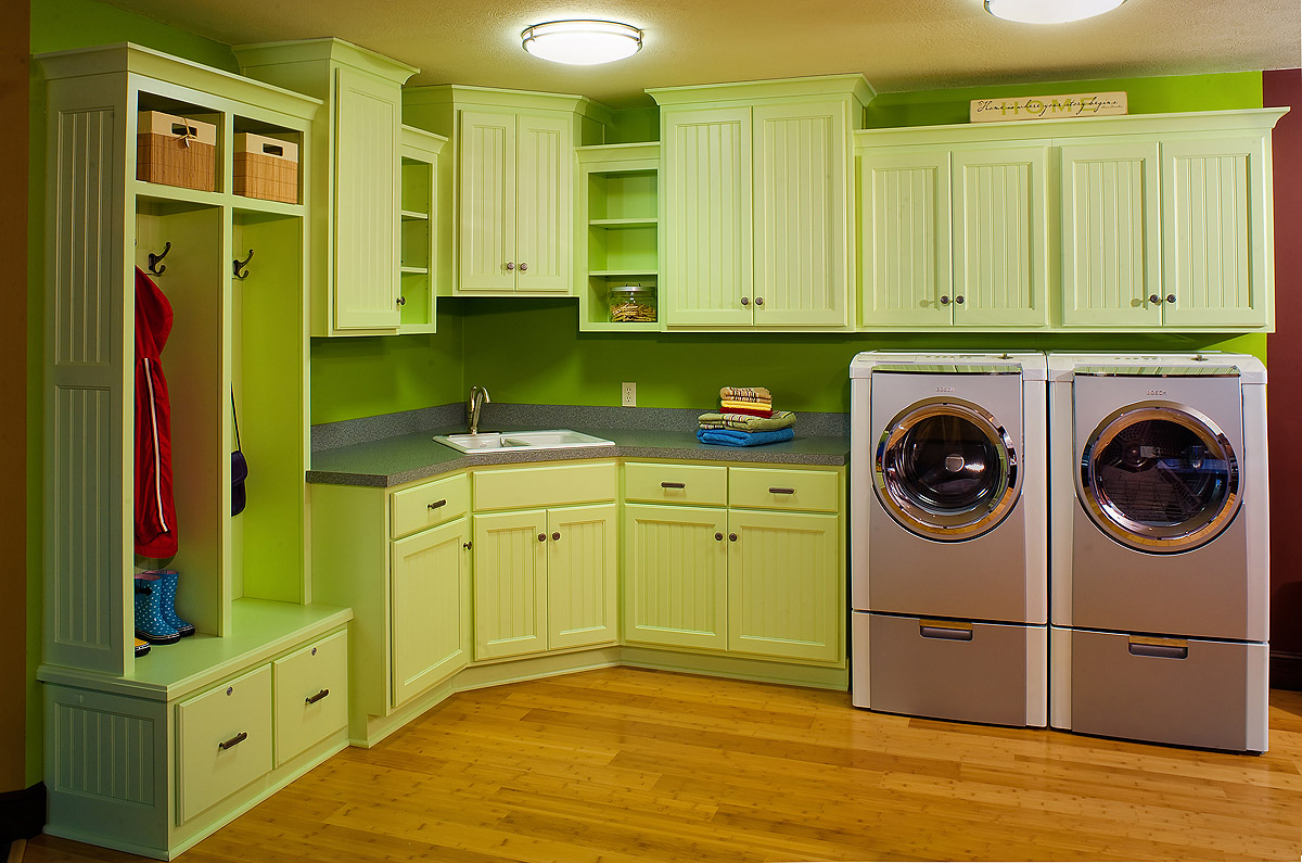 Laundry Room Meets Mudroom