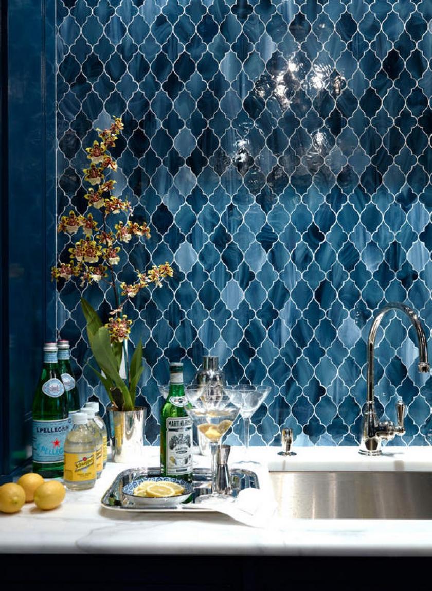 50 best kitchen backsplash ideas for 2016 for Blue moroccan tile backsplash