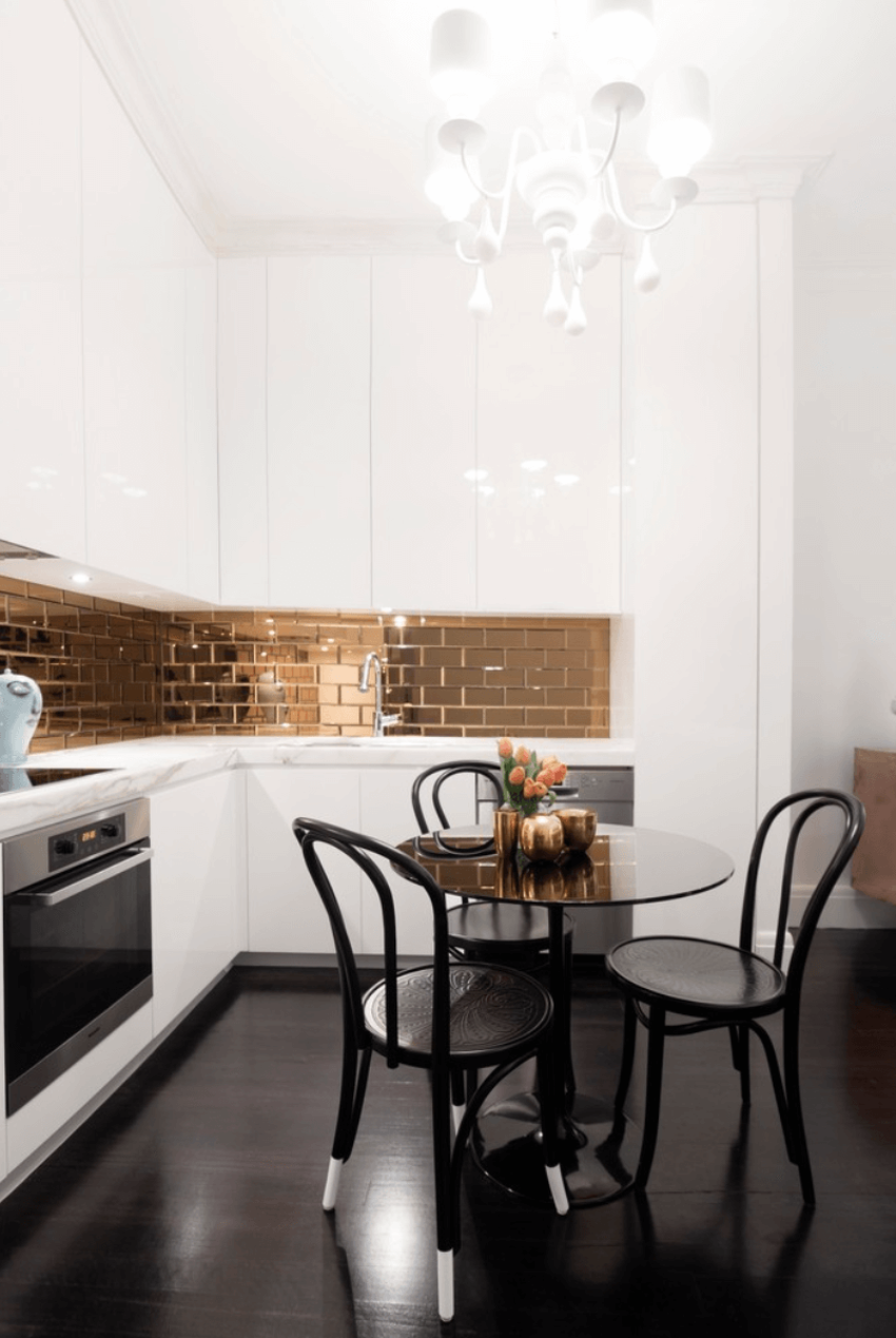 4 backsplash kitchen 35 Gold Glimmer
