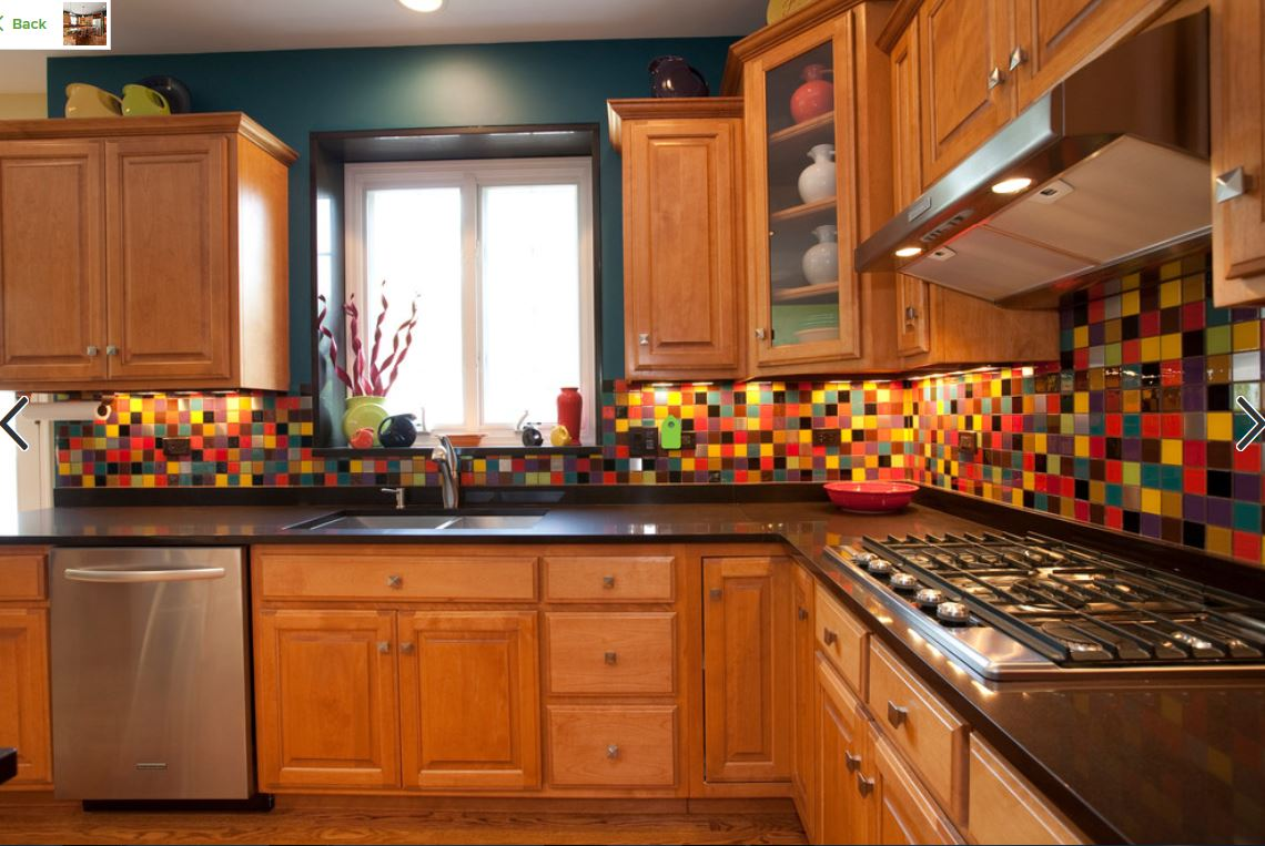 - Multicolored Kitchen Backsplash — Homebnc