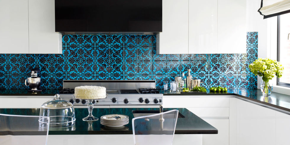 Etonnant Blue And Black Tile