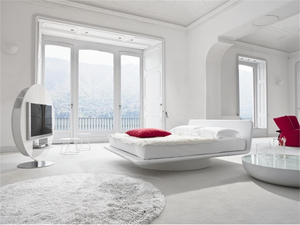 astonishing red white modern bedroom | 50 Best Bedrooms With White Furniture for 2017