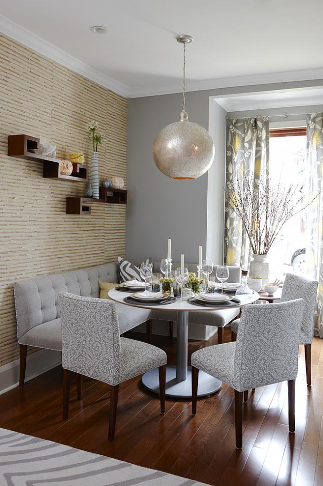 Marvelous Dining Room Nook Ideas Part - 8: 42. Silver Sensation