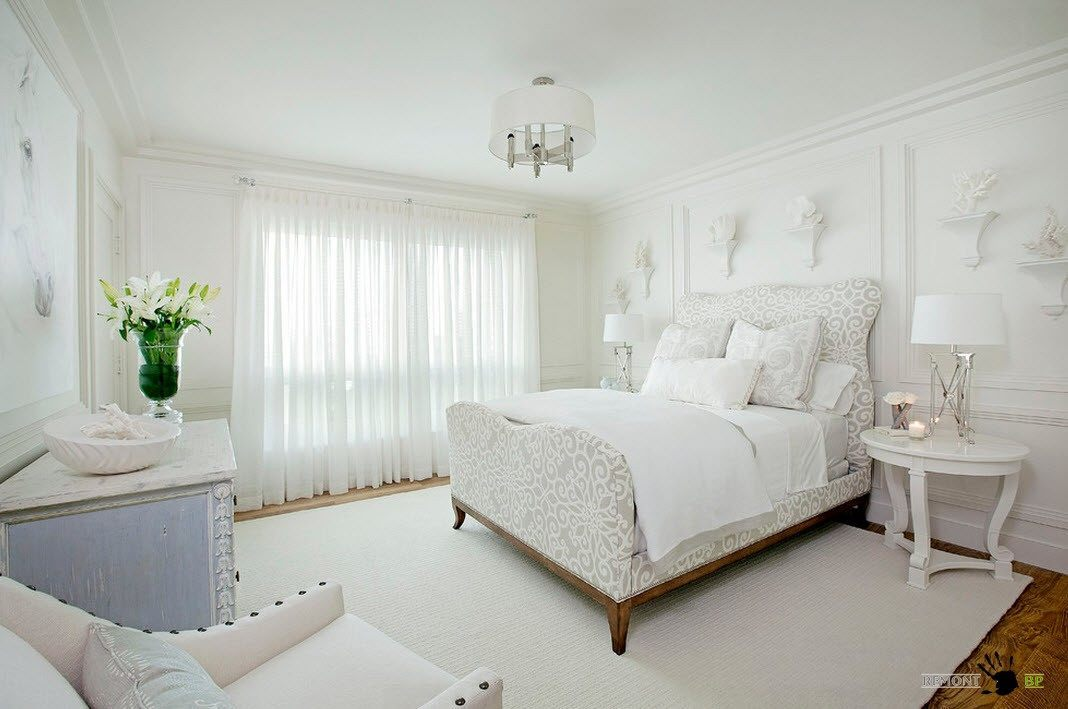 white and grey - White Bedroom Decorating Ideas