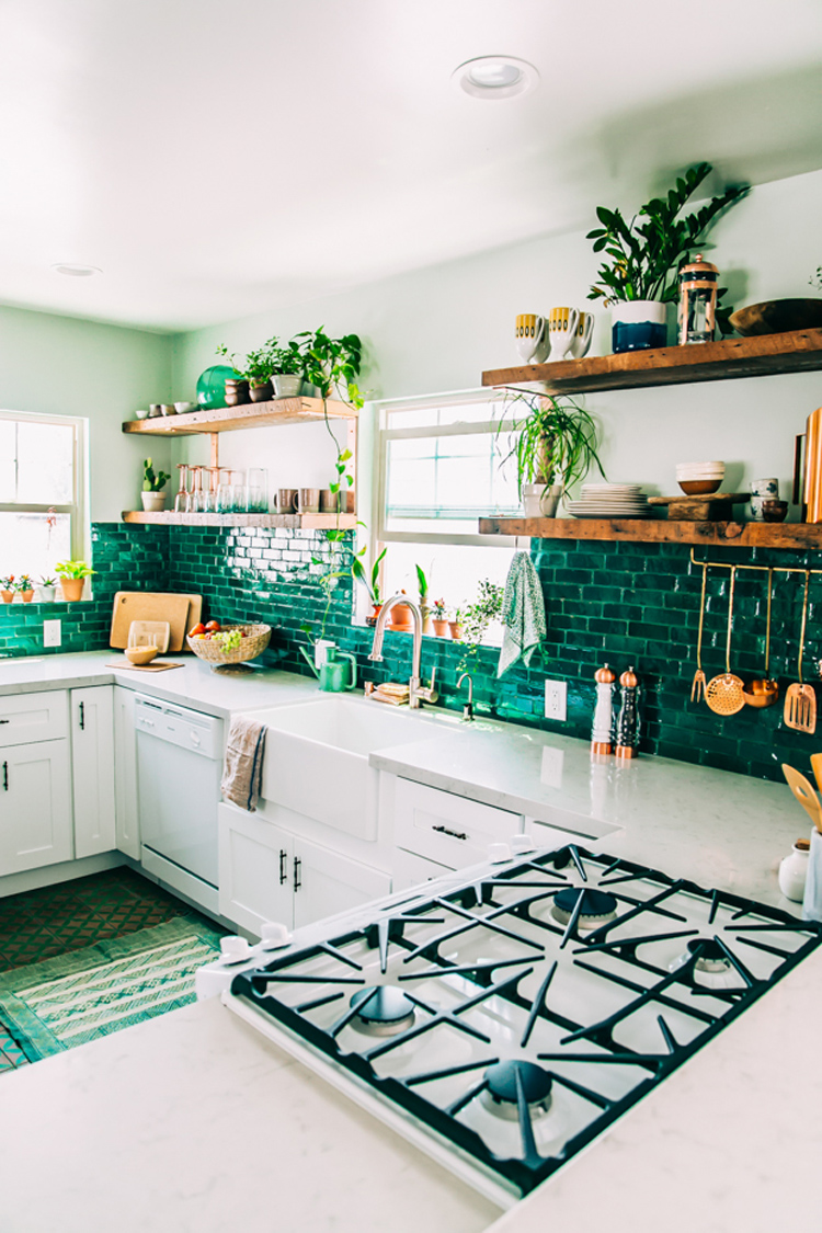 Green And White Kitchen 46 Best White Kitchen Cabinet Ideas For 2017
