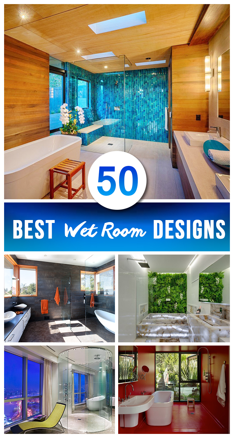 50 best wet room design ideas for 2017 for Wet room design ideas pictures
