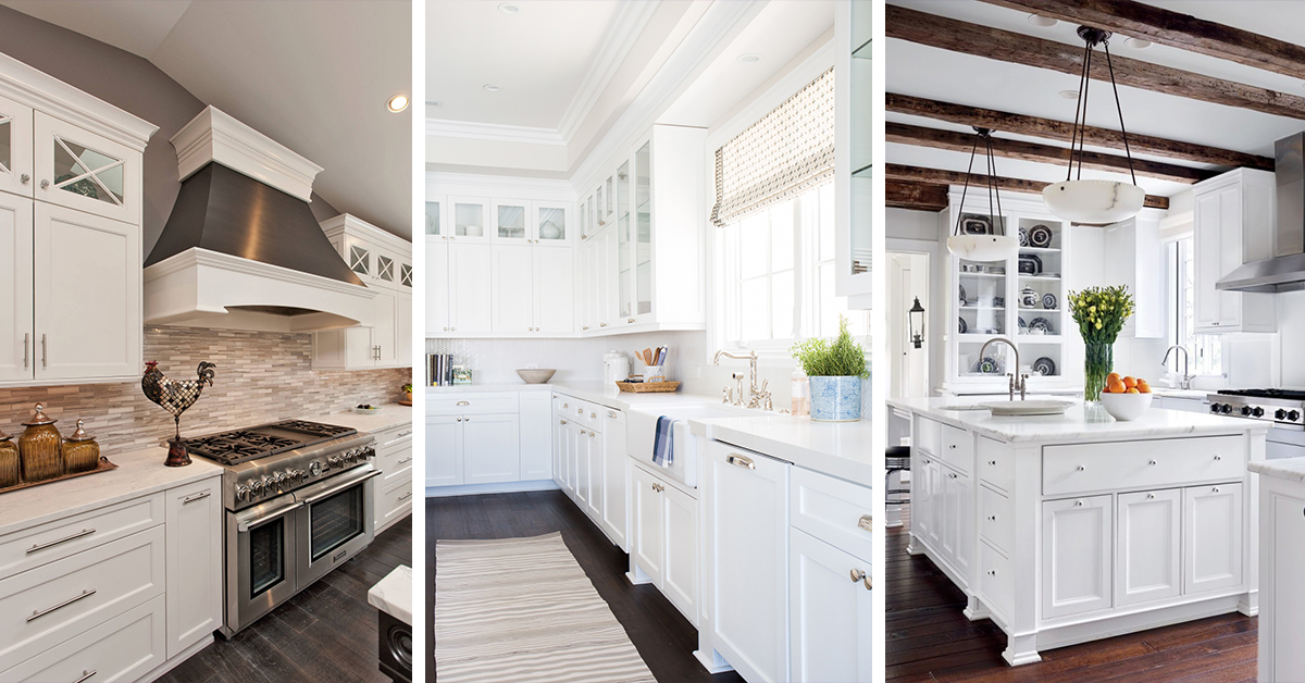 & 46 Best White Kitchen Cabinet Ideas for 2018