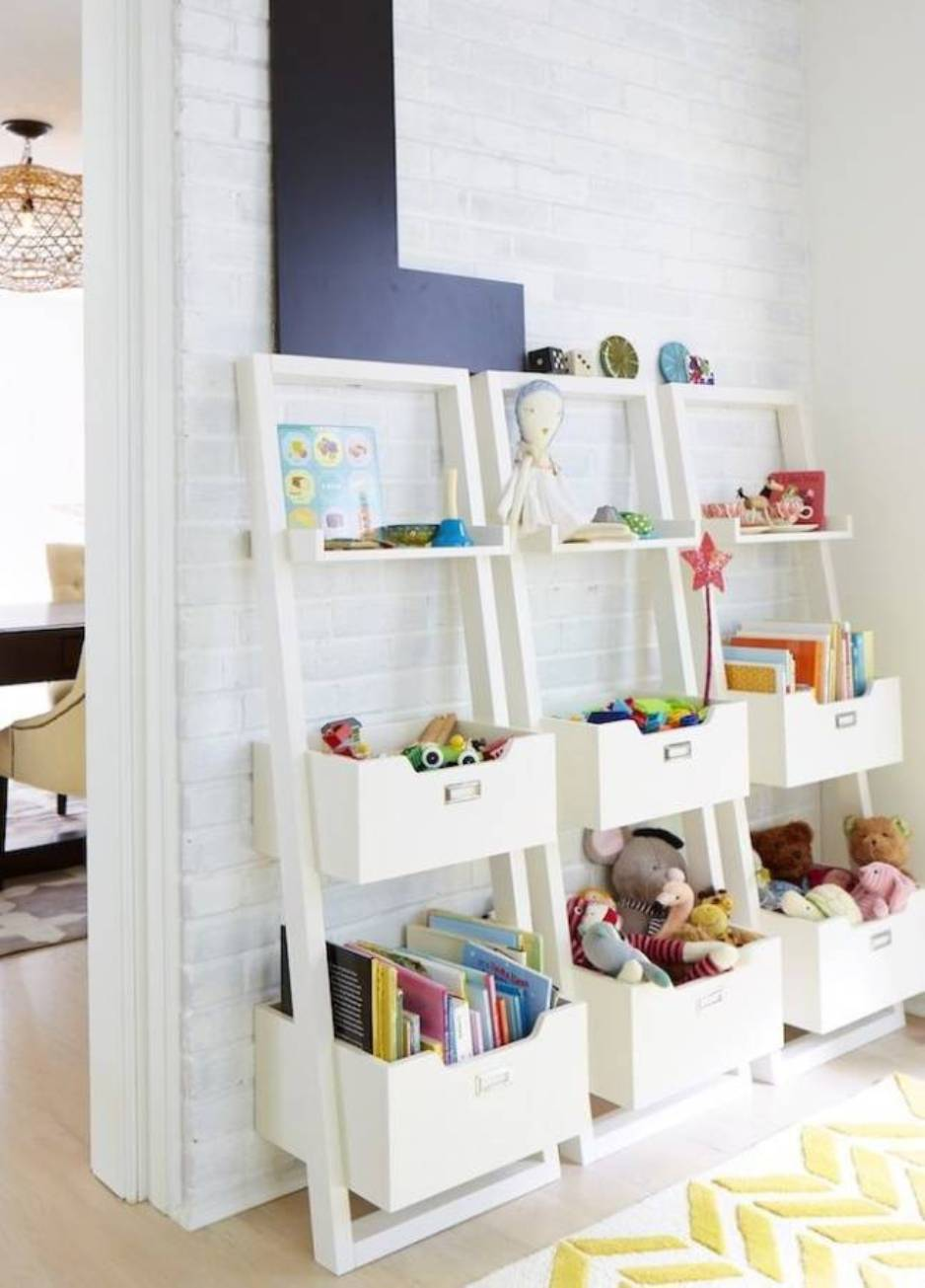 44 best toy storage ideas that kids will love in 2017 - Rangements chambre enfants ...