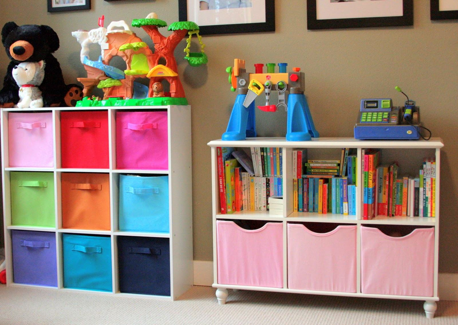 best toy storage ideas that kids will love in  -  classic cube shelves